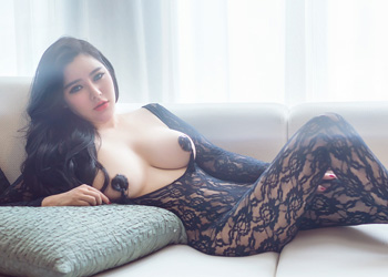 周宜诺2015.10.21rayshen摄影:骚模情趣紧身网衣乳贴拍摄